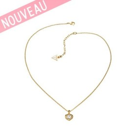 Collier Guess Coeur Métal Doré - Crystals of love
