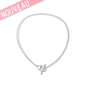 Collier Guess métal argenté - Love Lock