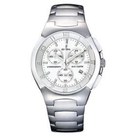 Montre Festina Homme-boitier acier gris-fond argent -bracelet acier gris