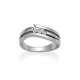Bague Argent Rhodié & Diamants