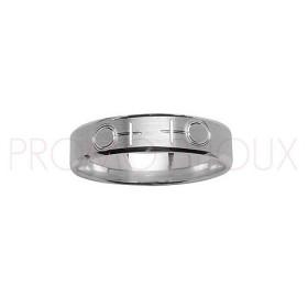 Alliance en Argent Rhodié diamanté - Alliance Symboles Femmes en Couple