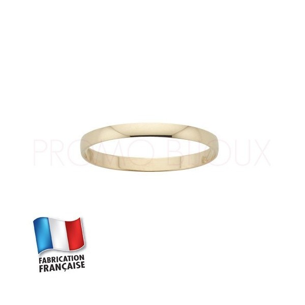 Alliance de mariage en or 9 carats - Jonc - 2 MM