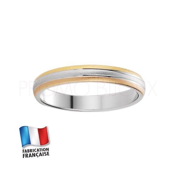 Alliance de mariage trois ors 9 carats - Standard - 3 MM