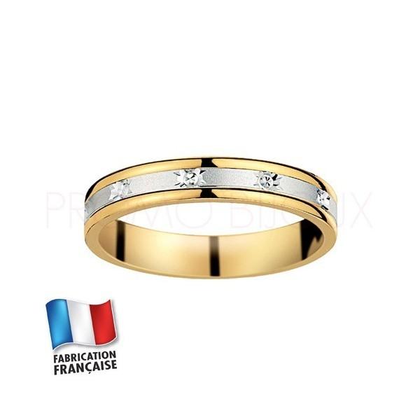 Alliance de mariage deux ors 9 carats - Standard - 3.5 MM