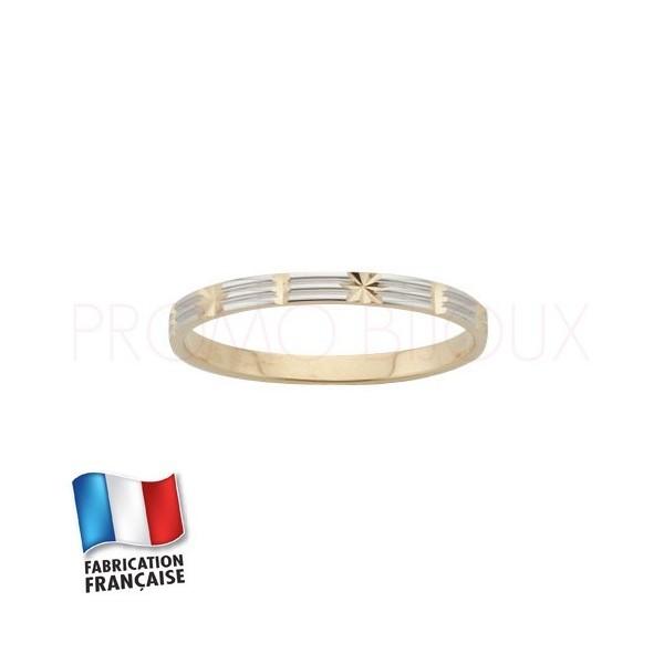 Alliance de mariage en or 9 carats Rhodiée - Fantaisie - 2 MM