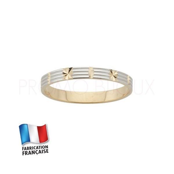 Alliance de mariage en or 9 carats Rhodiée - Fantaisie - 3 MM