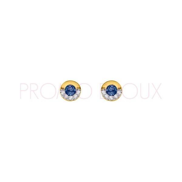 Boucles d'Oreilles Boutons Plaqué Or