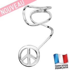 Bijou d'oreille motif peace and love