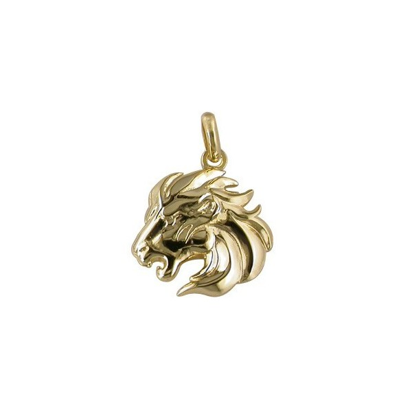 Pendentif Zodiaque Plaqué Or  Lion