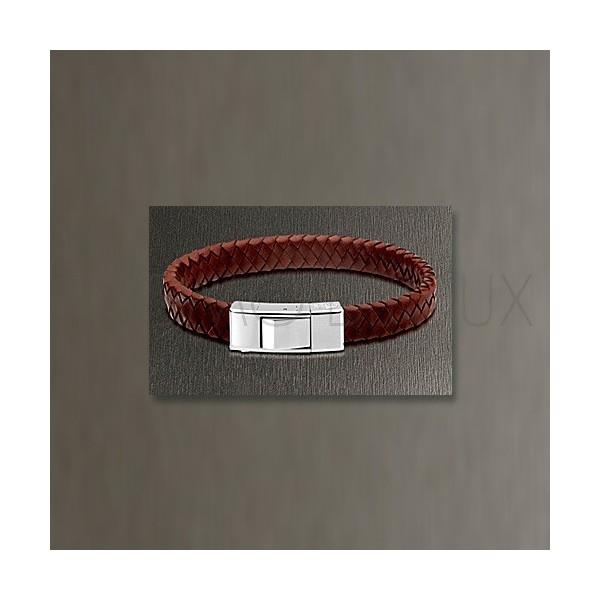 Bracelet Lotus Style - Bracelet Tressé Marron