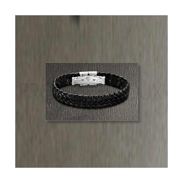Bracelet Lotus Style - Bracelet Tressé Noir