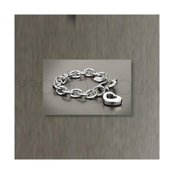 Bracelet Lotus Style - Bracelet Acier Lotus Coeur