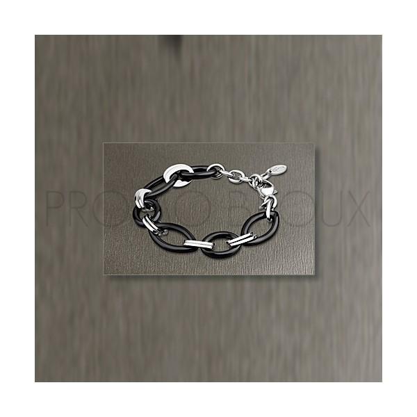 Bracelet Lotus Style - Céramique Noire