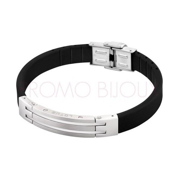 Bracelet Lotus Style - Bracelet Silicone Noir