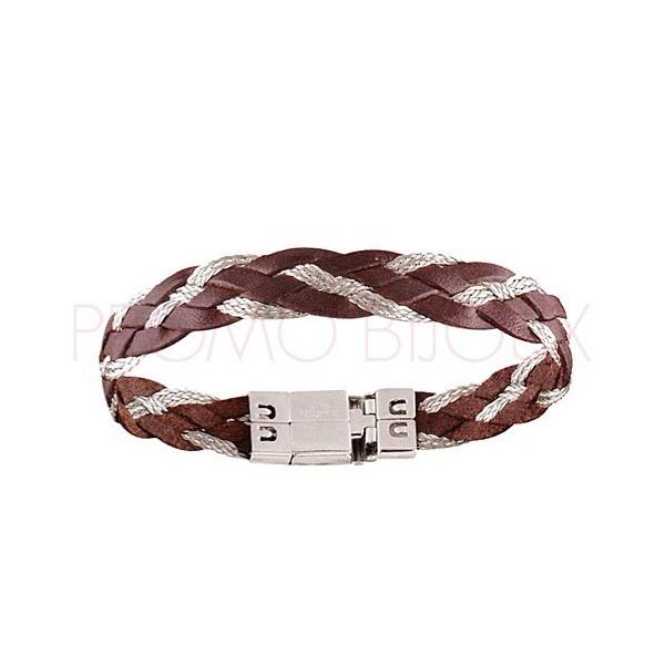 Bijoux Fête des Pères : Bracelet Acier & Cuir