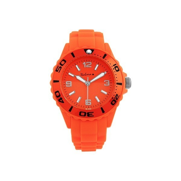 Montre orange fluo en silicone