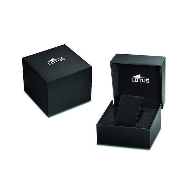 Montre Lotus bracelet caoutchouc noir
