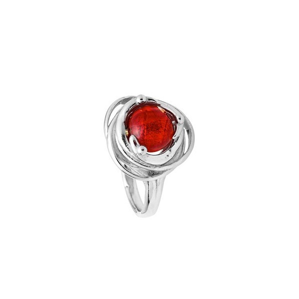 Bague  Jourdan Argent - Perle de Murano rouge