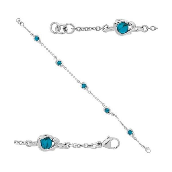 Bracelet  Jourdan Argent avec boule en turquoise
