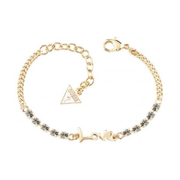 Bracelet GUESS love doré rhodié avec cristaux gris