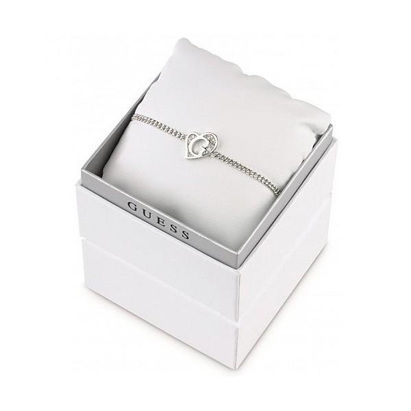Coffret bracelet Guess argenté coeur mini G avec cristaux blancs