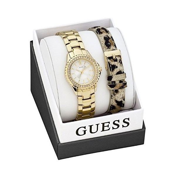 Montre Guess femme acier doré fond blanc W0442L2