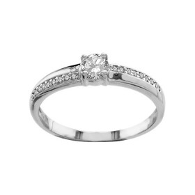 BAGUE ARGENT RHODIE BLANCHES SYNTH, bague femme, 065773
