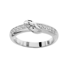 BAGUE ARGENT RHODIE PIERRES BLANCHES SYNTH, bague femme, 065786