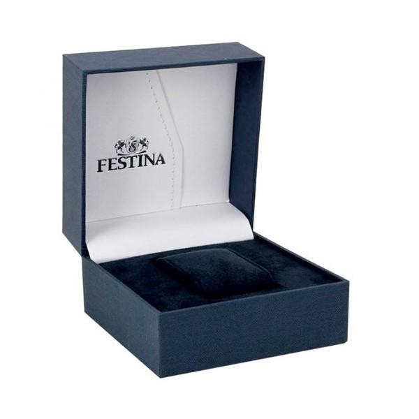 Montre Festina acier bleu et doré rose -  F16857-1