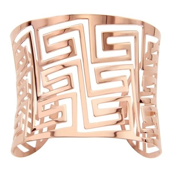 Bracelet manchette en acier rose