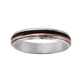 ALLIANCE ARGENT 4MM TRICOLORE 1 FILET BLACK OXYDE 1 FILET PL OR ROSE, bague femme, 066154