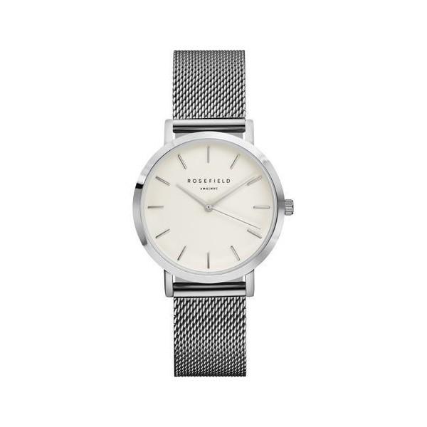 Montre Rosefield bracelet milanais acier gris pour femme