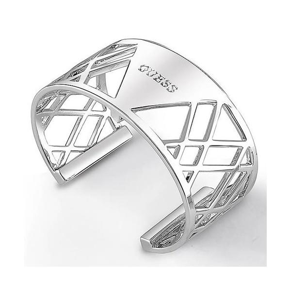 Grand bracelet argenté My Bangle Guess pour femmes
