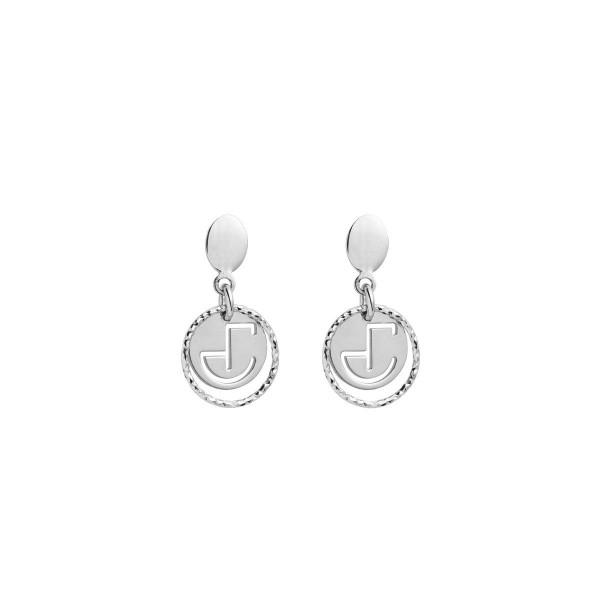Boucles d'oreilles pendantes en argent avec pendentifs ronds pour femmes Jourdan