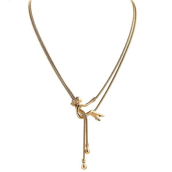 Collier avec pendentif danseuse en plaqué or Jourdan