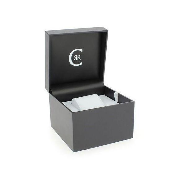 Montre Cerruti homme avec bracelet en silicone bleu et cadran gris et bleu