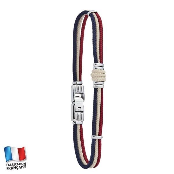 Jourdan WHITEHAVEN- Bracelet cordage multicouleurs et acier