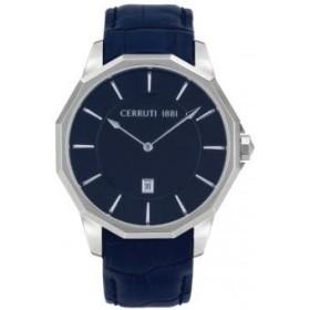 Montre Cerruti 1881 en cuir bleue et grise Homme