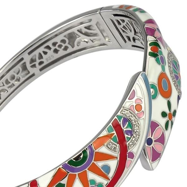 Bracelet Una Storia - Bracelet email multicouleurs et argent - j0121156