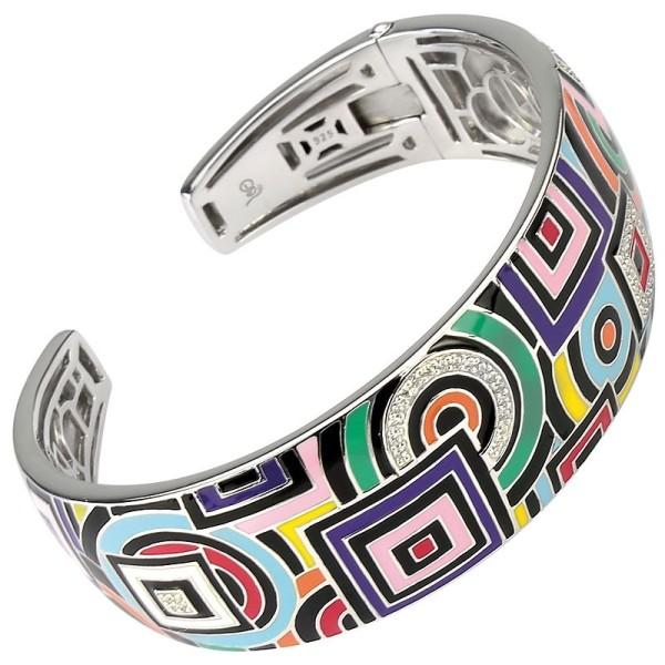 Bracelet Una Storia - Bracelet jonc Email Multicouleurs jo 121147