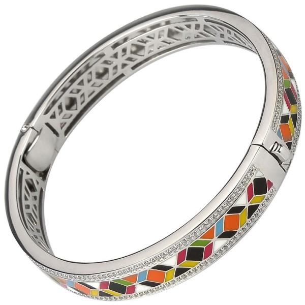 Bracelet Una Storia - Bracelet jonc argent/email multicouleurs jo121193