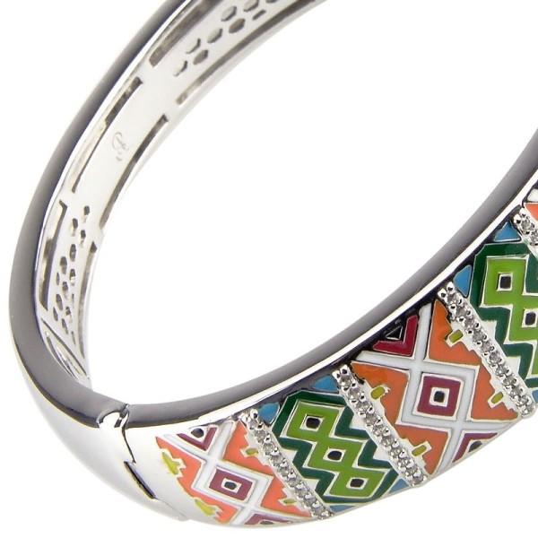 Bracelet Una Storia - Bracelet jonc rigide argent/email multicouleurs jo 121159