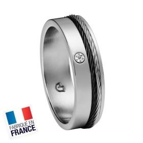 Bague Jourdan Hommes - Acier, Cable & Diamant DK 318 H