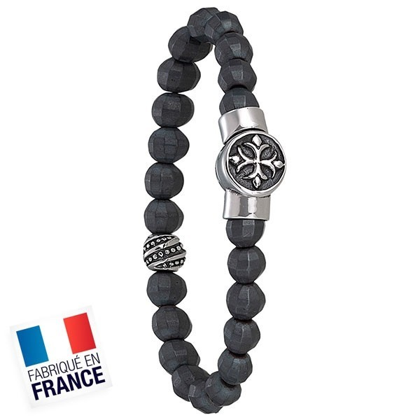 Bracelet Jourdan Homme - Acier et hematite noir