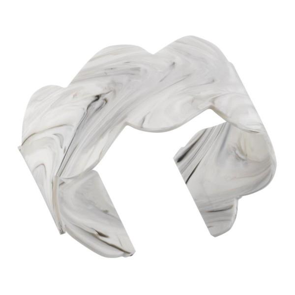 Accessoire bracelet Jourdan Jiji en acétate blanc gris