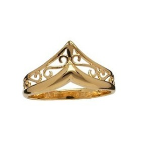BAGUE FORME POINTE PLAQUE OR
