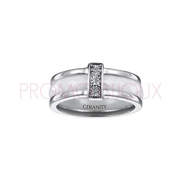 Bague Céramique et Diamants - Céramique Facettée-